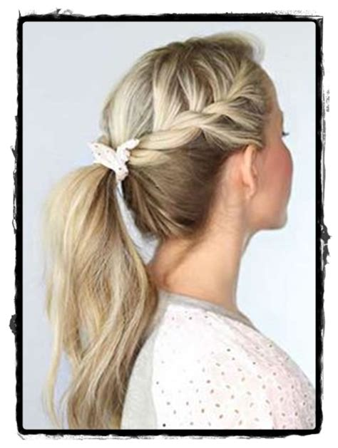 beautiful simple hairstyles for school look in