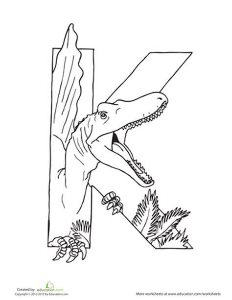 dinosaur alphabet coloring pages dinosaur coloring pages education com