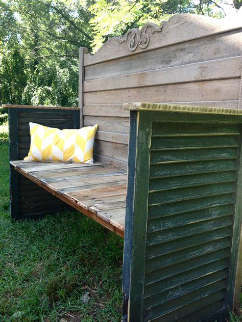 upcycled garden bench upcycled headboard garden bench omero home