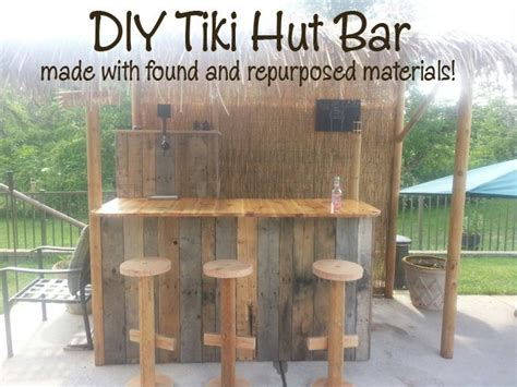Diy Tiki Hut Diy Tiki Hut Bar Repurposed Diy Projects Doityourself