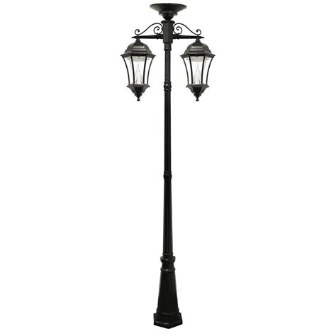 gama sonic solar powered l post acclaim lighting havana 3 head 3 light matte black outdoor