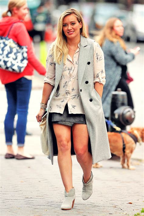 How Would You Wear It Hilary Duff Fabsugar Want Need by Hilary Duff On The Set Of Younger Leather