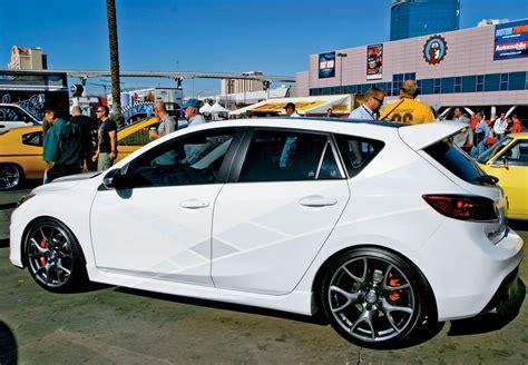 Auto Tuning Mazda 3 by Tuning Mazda3 Sema 2010 White Color Modification Of Cars