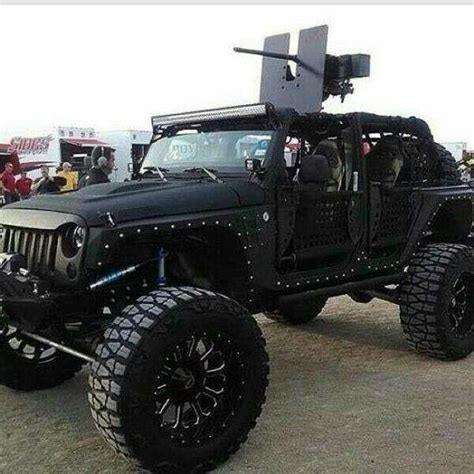 jeep wrangler or bad bad wrangler with mounted 50 cal jeep