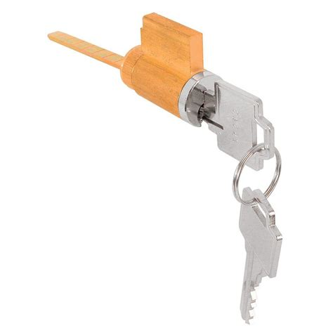 Patio Door Cylinder Lock Prime Line Patio Chrome Sliding Door Loop Lock U 9847 The Home Depot