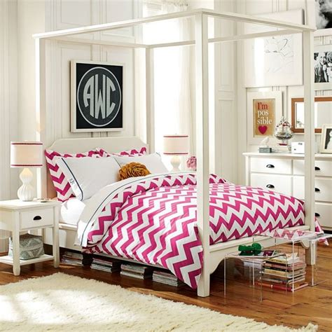 teen girls beds chatham canopy bed canopy beds other metro by pbteen
