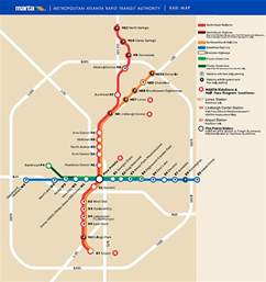 Atlanta Train Map by Marta Info Amp Map