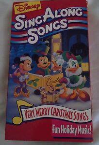 disney sing  songs vhs  merry christmas mickey minnie donald daisy  ebay