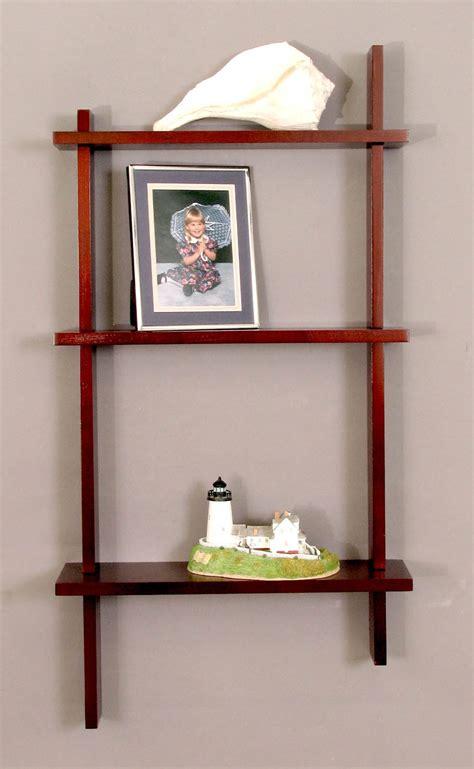Knick Knack Wall Shelf by Knick Knack Shelves Three Tier Birch In Wall Mounted Shelves