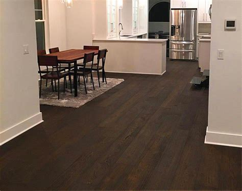 "Black Hardwood Floors   Engineered Plank   3 to 8"" Wide Plank"