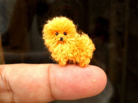 orange pomeranian orange pomeranian puppy tiny crochet miniature stuffed