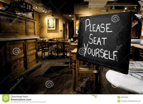 restaurant welcome sign stock photo image 48819395