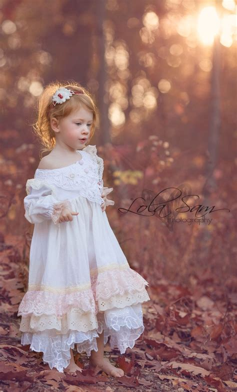 long sleeved white vintage lace shabby toddlergirls day
