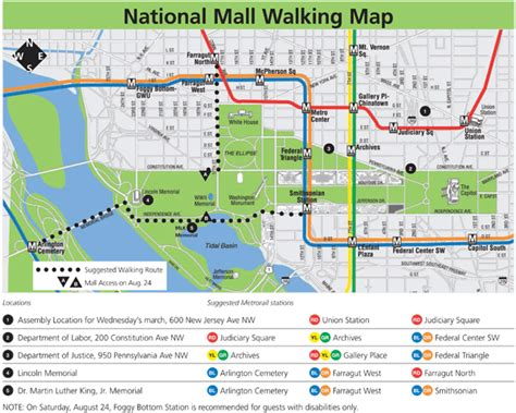 washington dc pop up map travel information for march on washington anniversary
