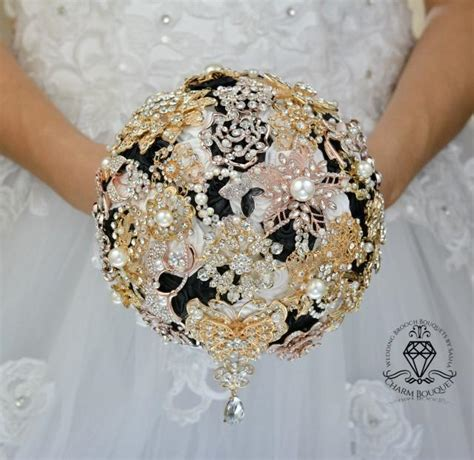 Wedding Bouquet And Gold by Gold Bouquet Gold Wedding White Bouquet Black Bouquet