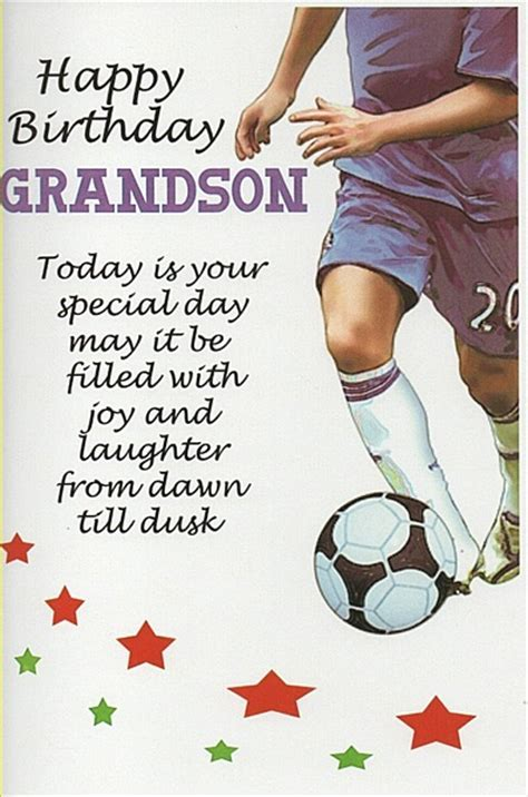 Male Relation Birthday Cards   Happy Birthday Grandson