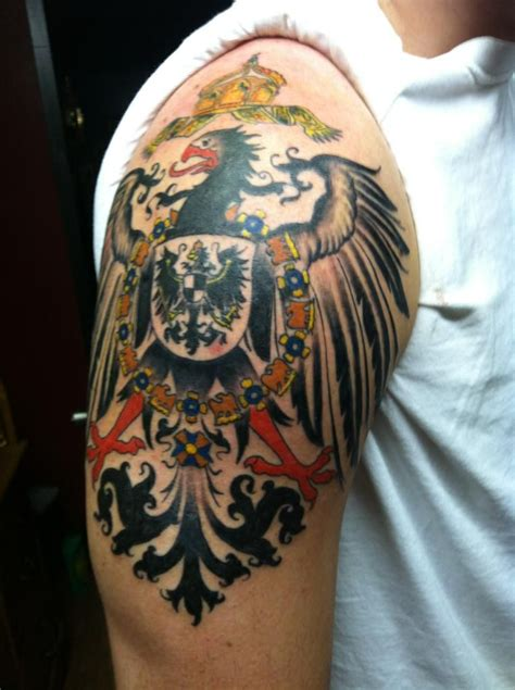 cherry bomb tattoo finished 1890 s german imperial eagle jonathan roach