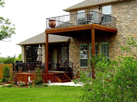 2 Story Home With Deck Two Story Deck Design Ideas By Archadeck St Louis Decks