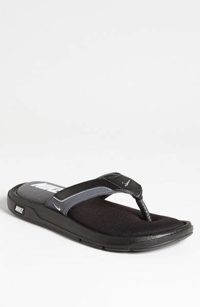 nike comfort flip flops men nike comfort flip flop men in black for men black silver