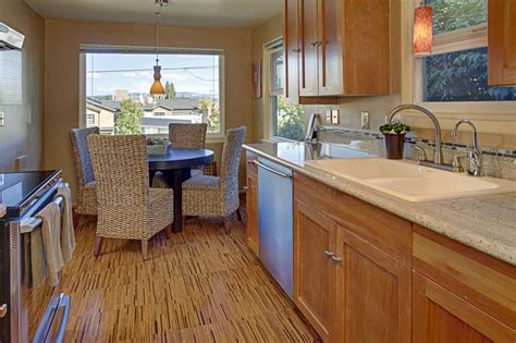 cork floors in kitchen five ideas for kitchen flooring home designs project