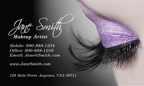 makeup artist name card template cosmetology make up artist business card design 601111