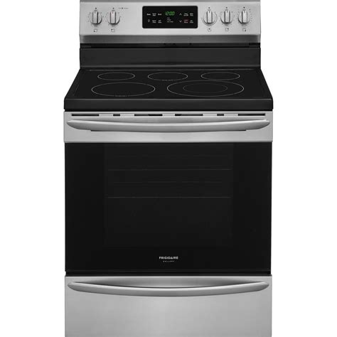 Stove With Oven frigidaire gallery 30 in 5 4 cu ft single oven electric range with self cleaning convection