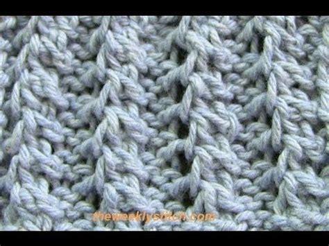 knitting pattern yo k2tog feather rib knitting stitch library pinterest