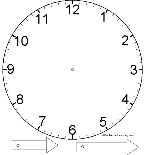 Clock Craft Template Enchanted Learning Software Clock Craft Template