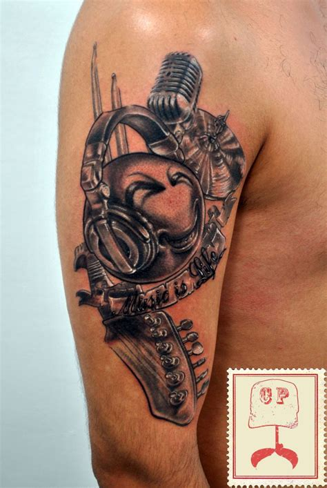 rock tattoo designs 25 best ideas about headphones on dj
