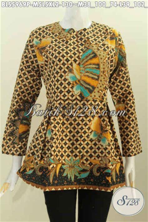 Blus Lengan Panjang batik blus lengan panjang buatan batik baju santai