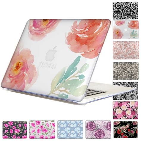 Pattern Floral For Macbook Air 13 Terpercaya lace floral print pattern clear for macbook pro 13 15 with non touch bar air
