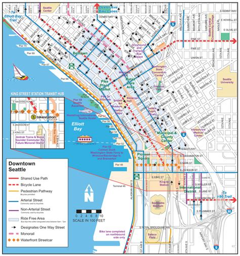 seattle hotels map downtown map of downtown seattle wa pictures to pin on