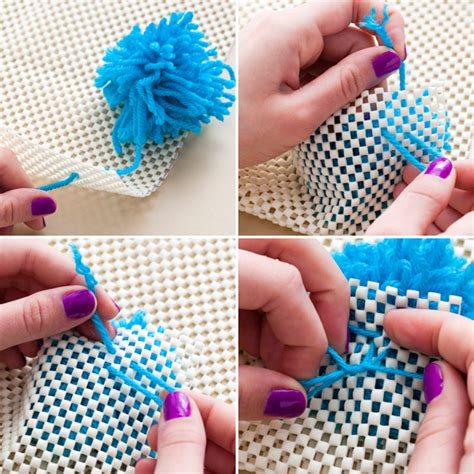 how to attach a pom pom to a knitted hat 3 in 1 diy pom pom ideas rug wall hanging and table
