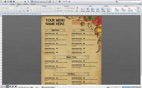 how to make a restaurant menu on microsoft word media
