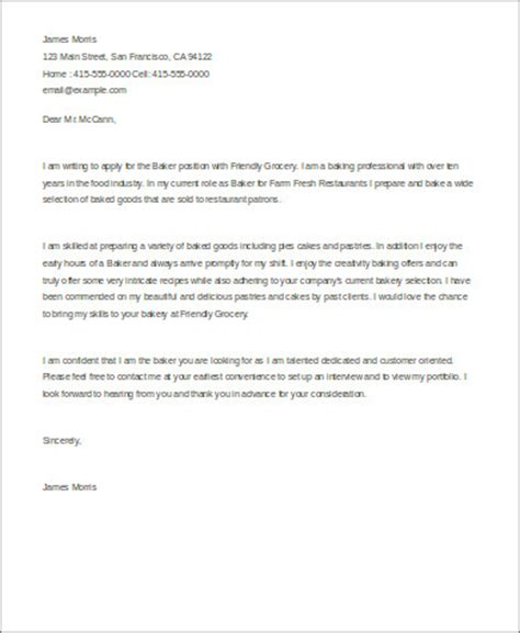 Cover Letter For Bakery Business Plan Cover Letter Sle 5 Exles In Word Pdf