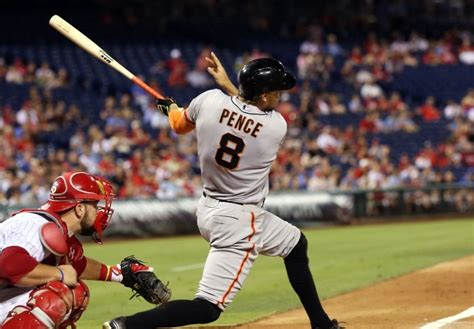 hunter pence swing hunter pence takes first swings of the season with whiffle bat