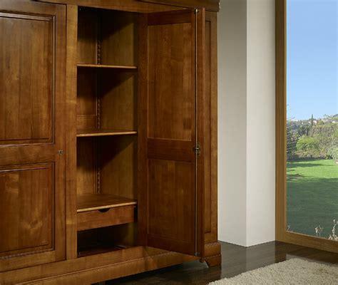 armoire en merisier massif armoire 3 portes en merisier massif de style louis philippe meuble en merisier massif
