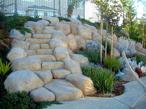 Imitation Rocks For Gardens Imitation Rocks For Gardens How To Make Landscape Rocks And Boulders Beginning Construction