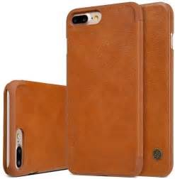 Iphone 7 7s Plus Flip Leather Cover Nillkin Qin souq nillkin apple iphone 7 plus iphone 8 plusqin flip leather cover brown uae