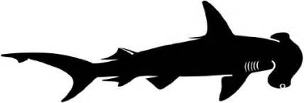 hammerhead shark silhouette best shark wall stickers add some bite to your room style