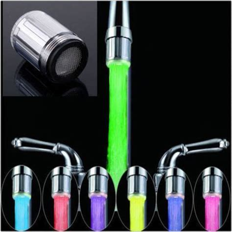 faucet colors 7 color rgb colorful led light water shower spraying head