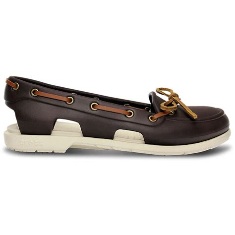 crocs boat shoes crocs womens beach line boat shoe espresso stucco