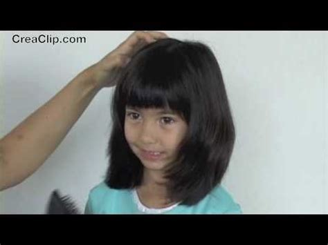 shoulder length bob cuts for kids how to cut a layered shoulder length hairstyle and bangs