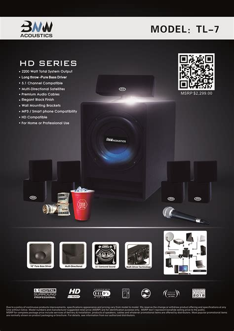 bnw acoustics tl  home theater system bnw acoustics