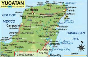 Yucatan Mexico Map map of yucatan mexico map in the atlas of the world