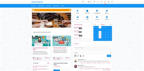 Intranet Design Exles Claromentis Intranet Design Templates