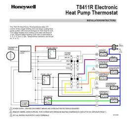 wiring diagram of honeywell t8411 1028 electronic heat thermostat binatani