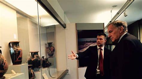 console americano a roma l ambasciatore americano r phillips a paestum