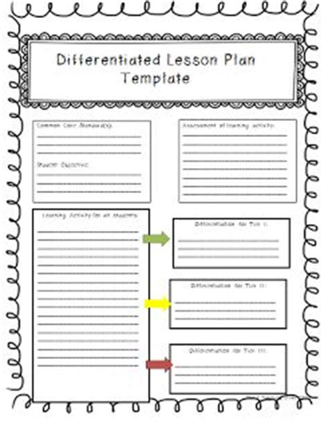 individual learning plan template for elementary students 17 best ideas about lesson plan templates on