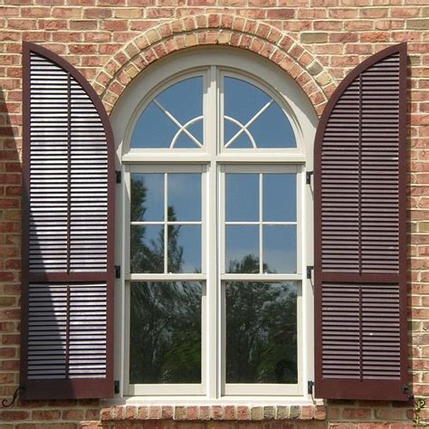Houses With Arched Windows Ideas Stylish Window Shutters For Window Treatment Ideas Interior Exterior